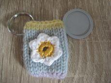 Schlüsselanhänger mit Einkaufschip - Blume - Handgearbeitetes Unikat