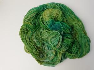 handgefärbte Wolle   kuschelweich   Sittich Variante 2