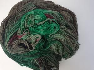 handgefärbte Wolle   kuschelweich   Jäger Variante 1