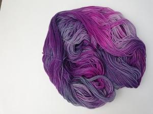 handgefärbte Wolle   kuschelweich   lilapink Variante 1