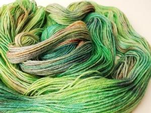 handgefärbte Wolle   glänzend   tropic Variante 2   Prinzenwolle