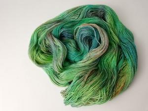 handgefärbte Wolle   glänzend   tropic Variante 1   Prinzenwolle