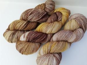 handgefärbte Wolle   kuschelweich   3er-Set Karamell