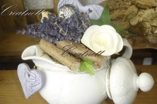 ♡ Dekokännchen mit echtem Lavendel ♡