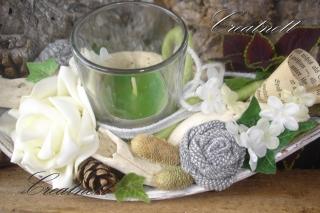 ☆ Tischdeko Schiffchen mit Teelichthalter ☆