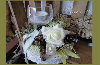 ♡ Romantische Tischdeko mit Windlicht aus Weingläschen ♡