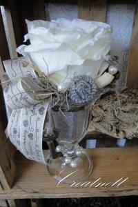 ♡ Ein schönes Rosengesteck im Glas ♡ Perfekt als Mitbringsel!