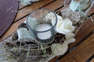 ♡ Eine schöne Dekoration mit Windlicht auf Kokosschale ♡