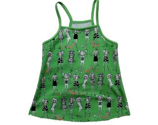 Shirt Sommer-Top Gr. 110/116 Fashion Girls grün - Handarbeit kaufen
