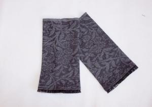 Armstulpen Pulswärmer Jersey mit floralem Muster und Tüllspitze - Handarbeit kaufen