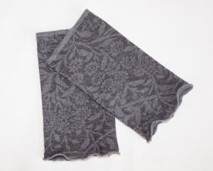 Armstulpen Pulswärmer Jersey mit floralem Muster und Wellensaum - Handarbeit kaufen