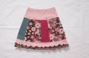 Jolly Rock Gr. 116 Feincord braun-rosa Mustermix