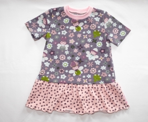 T-Shirt - Kleid Gr. 86/92 Jersey mit Blütenfeen - Handarbeit kaufen