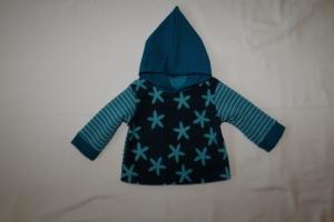 Babyhoodie Fleece Gr. 62/68  Sterne und Streifen