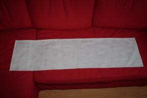 Tischläufer Jacquard 134 cm x 36 cm weiß - silber - Handarbeit kaufen