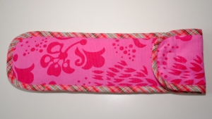 Flötentasche Musiktasche für die Blockflöte hell und dunkles Pink - Handarbeit kaufen