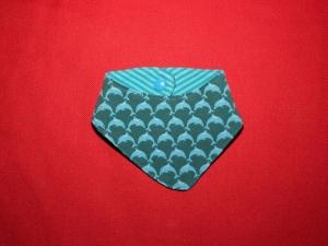Baby - Halstuch Wendehalstuch mit Delfinen und Streifen - Handarbeit kaufen