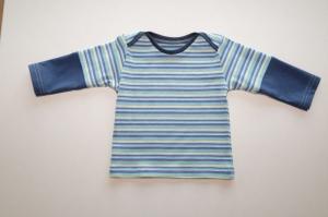 Babyshirt Gr. 62-68 Langarm für Jungen Streifen-Jersey