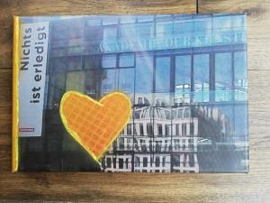 tolles Bild Foto auf Leinwand mit Sinnspruch, fotografiert und mit Farbe gepuscht, Herz, gold (Kopie id: 100144987) - Handarbeit kaufen