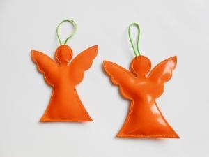 Toller Engel Aufhänger aus LKW Plane für drinnen und draußen, Garten, Baum, Weihnachten