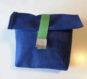 Rolltasche aus Luftmatratze,  Brotbeutel, wasserfest, toll und cool, 70er Jahre, beige, blau, Gummi, Utensilo (Kopie id: 100216243) (Kopie id: 100216248)