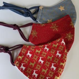 Maske Masken Mund- und Nasenmaske Mundschutz Mundschutzmaske Behelfsmaske Geschenk Weihnachten Nicolaus Adventskalender Weihnachtsmaske (Kopie id: 100254149)