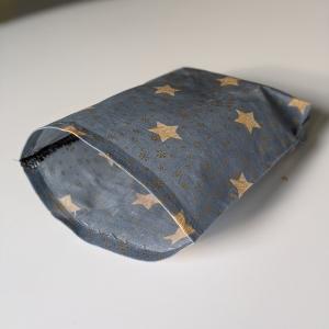 Lunchbag Brotbeutel Vegan Wachstuch Plastikfrei einpacken Aufbewahrung Geschenk Weihnachten Nicolaus Adventskalender  Sterne Schneeflocken