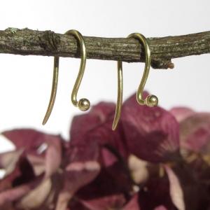 Klassische Ohrbügel in Gelbgold 750 für Wechselsystem - Handarbeit kaufen