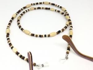 Brillenkette, Holzperlen, Holzkette, Perlen, Halsschmuck, Schmuck, Geschenk für Frauen und Männer - Handarbeit kaufen