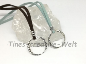 Brillenkette, Brillenband, Kette, Charmkette, Basiskette, Charm, Velourband, Velour, Halsschmuck, Schmuck, Geschenk - Handarbeit kaufen