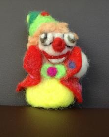 Charly der lustige Clown,mit der Nadel gefilzt, Handarbeit - Handarbeit kaufen