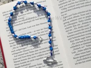 Lesezeichen Saturn mit Holzperlen, Bucheinleger, Lesezeichen Planet, Geschenk für Junge - Handarbeit kaufen