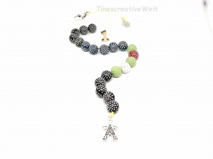 Rechenkette, Perlen, Glitzer, Jungen, Schulanfang, rechnen, Geburtstag, Geschenk - Handarbeit kaufen