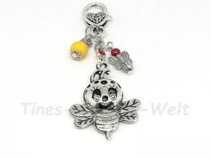 Schlüsselanhänger, Biene, Fliege, Anhänger, Taschenanhänger, Imker, Insekt, Perlen - Handarbeit kaufen