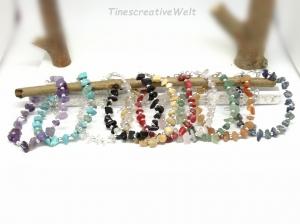 Edelstein - Armband, Splitter, verstellbar, Geschenk für Frauen, Geschenk für Männer   - Handarbeit kaufen