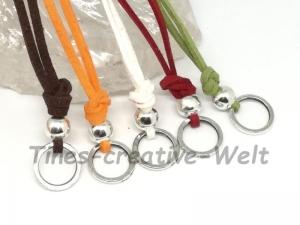 Kette für Charms, Basiskette, Veourband, Velour, Charmring, Ring, Halsschmuck, Halskette, Charm, Basiskette, Kette für Anhänger, Geschenk - Handarbeit kaufen