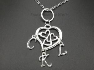Familienkette, personalisierte Kette, Namenskette, Herz, Mutter - Kinder, Geschenk - Handarbeit kaufen