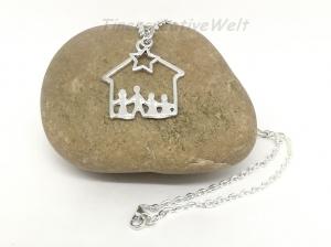 Familienkette, Mutter - Vater - 2 Kinder, Geschenk Eltern, Geschenk für Frauen, Geschenk für Männer