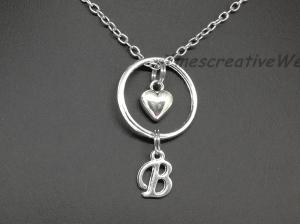 Personalisierte Kette, Buchstabenkette, Namenskette, Herz, Geschenk für Frauen, Geschenk Für Männer