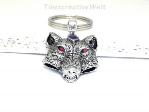 Schlüsselanhänger, Wolf, Bär, Geschenk für Männer - Handarbeit kaufen