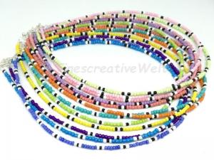 Perlenkette, Rocailles, Perlen, Kette, Halsschmuck, Perlenschmuck, Geschenk  - Handarbeit kaufen