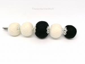 Anstecknadel mit Filzkugeln aus Schurwolle, Geschenk für Frauen - Handarbeit kaufen