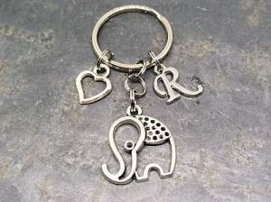 Personalisierter Anhänger, Elefant, Tier, Glück, Anhänger, Schlüsselanhänger, Taschenanhänger, Geschenk - Handarbeit kaufen