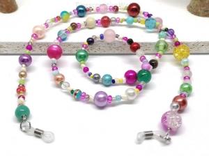 Kunterbunte Brillenkette aus Perlen, Glasperlen, Geschenk für Frauen  - Handarbeit kaufen