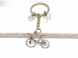 Schlüsselanhänger, personalisiert, Fahrrad, Rad, Herz, Glücksbringer, Geschenk - Handarbeit kaufen