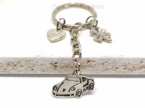 Schlüsselanhänger, Auto, Gute Fahrt, Führerschein, Herz, Glücksbringer, Kleeblatt, Geschenk - Handarbeit kaufen
