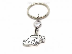 Schlüsselanhänger, Auto, fahr vorsichtig, Führerschein, Herz, Glücksbringer, Geschenk, Geburtstag - Handarbeit kaufen