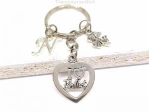 Personalisierter Schlüsselanhänger, Ballett, Ballerina, Tanzen, Kleeblatt, Glücksbringer, Geschenk - Handarbeit kaufen