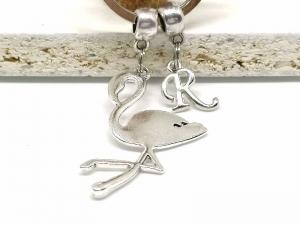 Personalisierter Flamingo Schlüsselanhänger, Tier, Vogel, Anhänger, Taschenanhänger, Geschenk, Geburtstag - Handarbeit kaufen