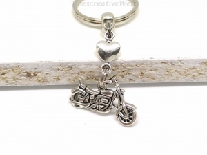 Schlüsselanhänger, Motorrad, fahr vorsichtig, Führerschein, Herz, Glücksbringer, Geschenk, Geburtstag - Handarbeit kaufen